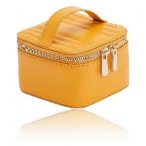 Boîte à Bijoux Voyage Zip Cube Cuir Jaune Maria - Wolf 1834