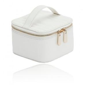 Boîte à Bijoux Voyage Zip Cube Cuir Blanc Maria - Wolf 1834