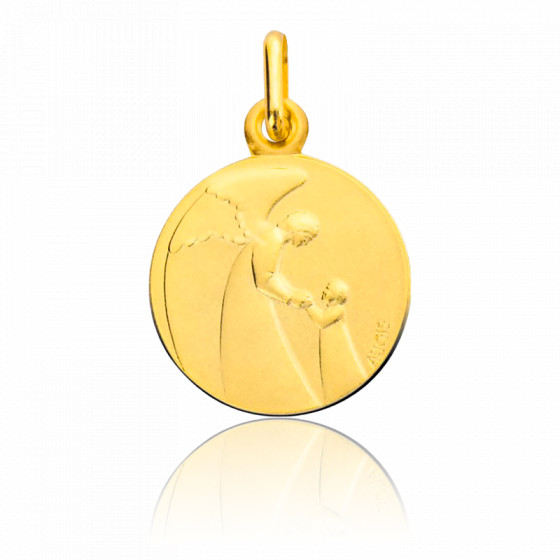 Médaille Ange Gardien Enfant, Or Jaune 18K - Augis