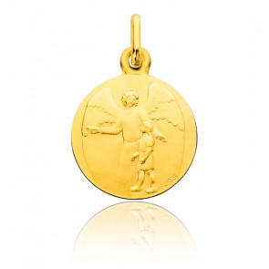 Médaille Ange Gardien Jeune Fille, Or Jaune 18K - Augis
