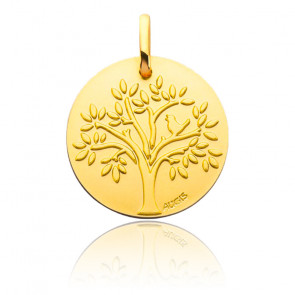 Médaille Arbre de Vie Oiseau, Or Jaune 18K - Augis