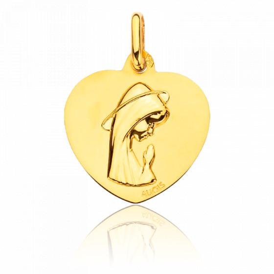 Médaille Coeur Sainte Vierge, Or Jaune 18K - Augis
