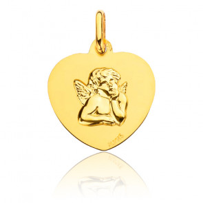 Médaille Coeur Ange, Or Jaune 18K - Augis