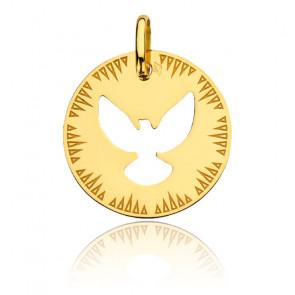 Médaille Colombe Ajourée, Or Jaune 18K - Augis