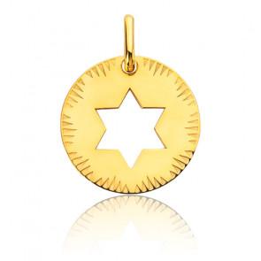 Médaille Etoile de David Ajourée, Or Jaune 18K - Augis