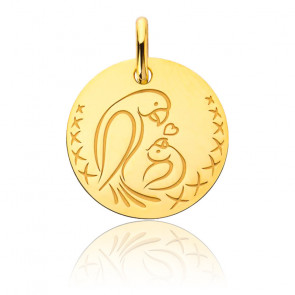 Médaille Oiseaux Bébé, Or Jaune 18K - Augis