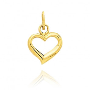 Pendentif mini coeur ajouré, Or jaune 9 ou 18K - Emanessence