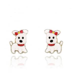 Boucles d'oreilles Chien, Or jaune 9 ou 18 carats - Emanessence