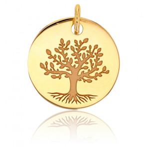 Médaille ronde arbre de vie, Or jaune 18K - Rosatella