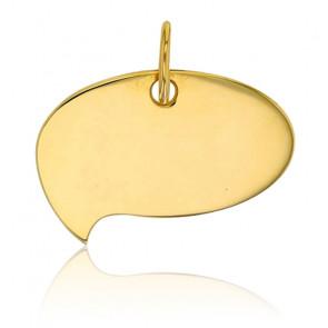 Plaque à graver bulle gauche, Or jaune 9K - Rosatella