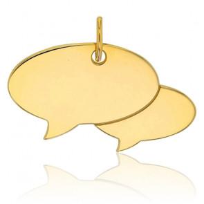 Médaille à graver double bulle, Or jaune 9K - Rosatella