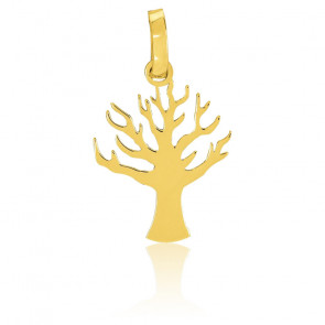 Pendentif arbre de vie caduc, Or jaune 18K - Emanessence