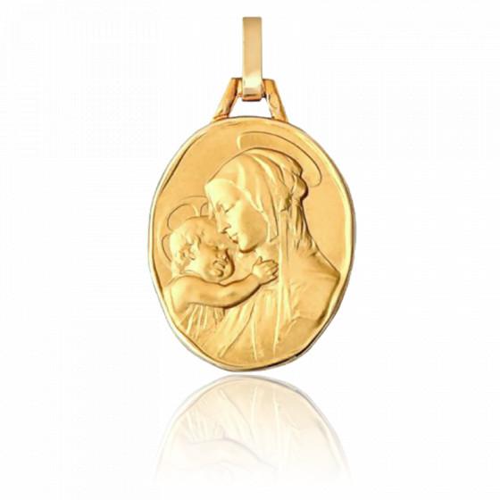 Médaille Maternité, ovale, Or jaune 18K - Pichard-Balme