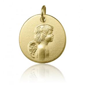 Médaille baptême ange, Or jaune 9 ou 18 carats - Argyor
