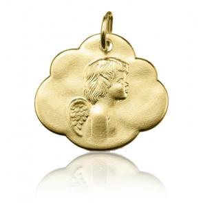 Médaille Ange dans les nuages, Or jaune 9 ou 18K - Argyor