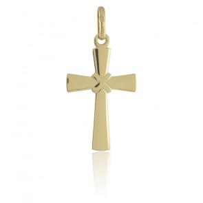 Pendentif croix liée, Or jaune 9 carats - Argyor