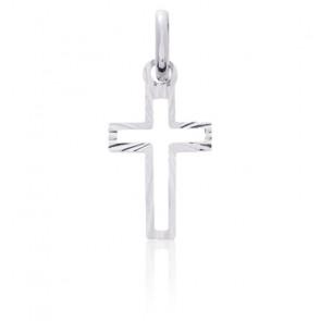 Croix ajourée, Or blanc 18 carats - Emanessence