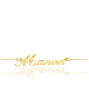Bracelet Prénom personnalisable, Or jaune 18K - Emanessence