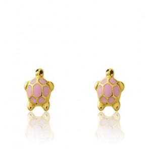 Boucles d'oreilles Tortue, Or jaune 9 ou 18K - Emanessence