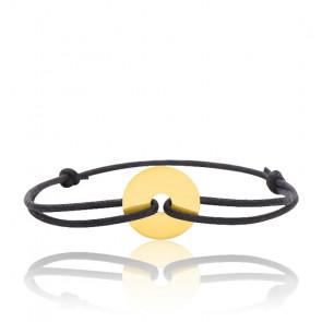 Bracelet cordon cercle, Or jaune 18K - Emanessence