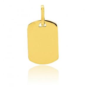Plaque tonneau personnalisable, Or jaune 9 ou 18K - Emanessence