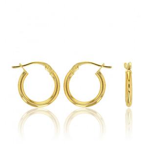 Boucles d'oreilles créoles, Or jaune 18K - Rosatella