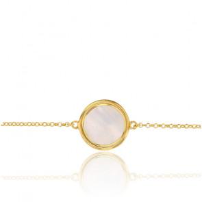 Bracelet Madre Perla, Argent doré et nacre - Rosatella