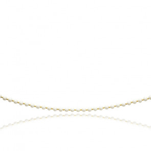 Collier perles de culture blanches 5 mm , Or jaune 18K - Emanessence