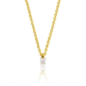 Collier diamant, Or jaune 18 carats - Emanessence