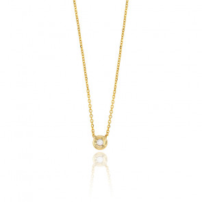 Collier femme diamant clos , Or jaune 18K et diamant - Rosatella