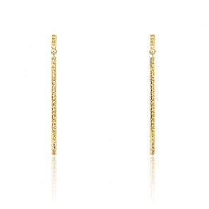 Boucles d'oreilles pendantes droites, Or jaune 9K - Rosatella