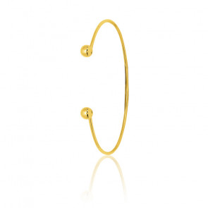 Bracelet jonc ouvert, Or jaune 18K - Emanessence