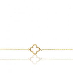Bracelet Fleur Découpée, Or 9K - Rosatella