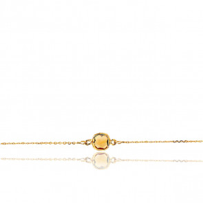Bracelet Or Jaune 18K & Quartz Jaune - Rosatella