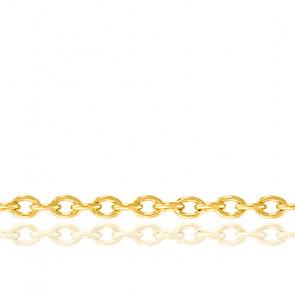 Chaîne maille forçat, Or jaune 18 carats, 40 cm