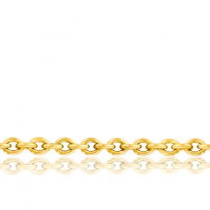 Chaîne maille forçat, Or jaune 18 carats, 45 cm