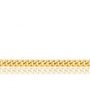 Chaîne maille gourmette, Or jaune 18 carats, 40 cm