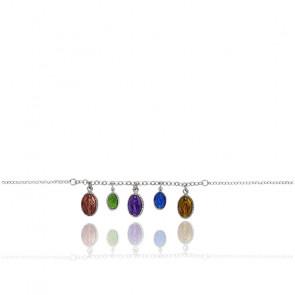Bracelet Madone, Argent 925 et Email - Rosatella