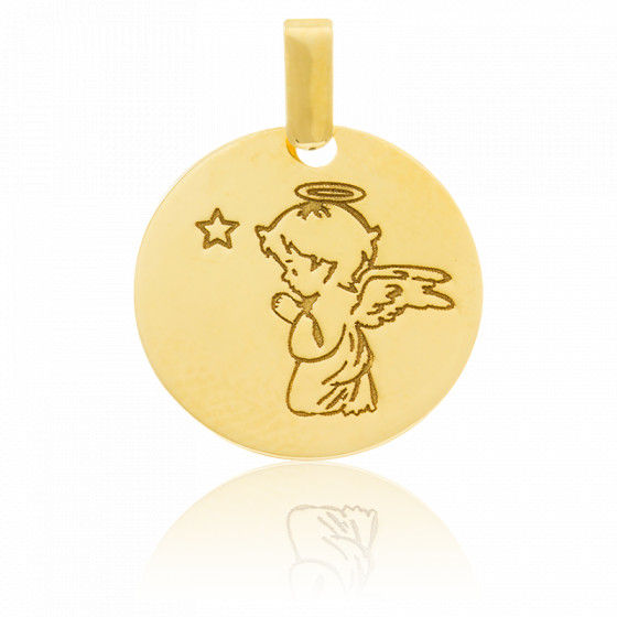 Médaille Petit Ange, Or jaune 18K - Emanessence