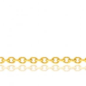 Bracelet Maille Forçat Ronde, Or Jaune 18K, 23 cm - Manillon