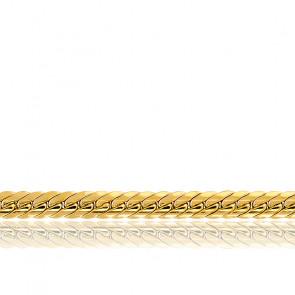 Bracelet Maille Anglaise Creuse, Or Jaune 18K, 22 cm - Manillon
