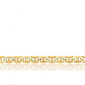 Bracelet Maille Marine Plate Massive, Or jaune 18K, 17 cm - Manillon