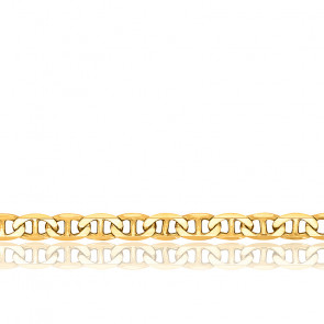 Bracelet Maille Marine Plate Massive, Or jaune 18K, 19 cm - Manillon
