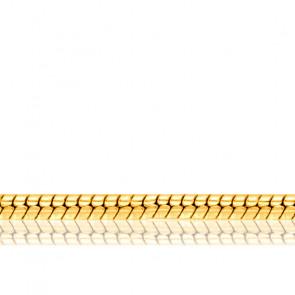 Bracelet Maille Serpentine, Or Jaune 18K, 25 cm - Manillon