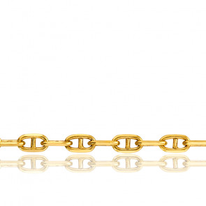 Bracelet Maille Marine Massive, Or Jaune 18K, 17 cm - Manillon