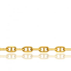 Bracelet Maille Marine Massive, Or Jaune 18K, 21 cm - Manillon