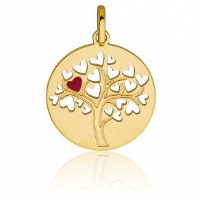 Médaille Arbre de vie Coeur, Or jaune 9K - Vandona