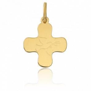 Pendentif Croix Colombe, Or jaune 18 carats - Vandona