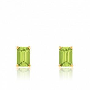 Boucles d'oreilles Péridot & Or Jaune - Aurora