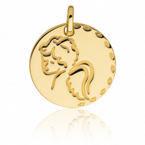 Médaille Chérubin, Or jaune 18K - Vandona